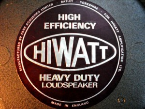 Hiwatt using Fane Acoustics Speaker